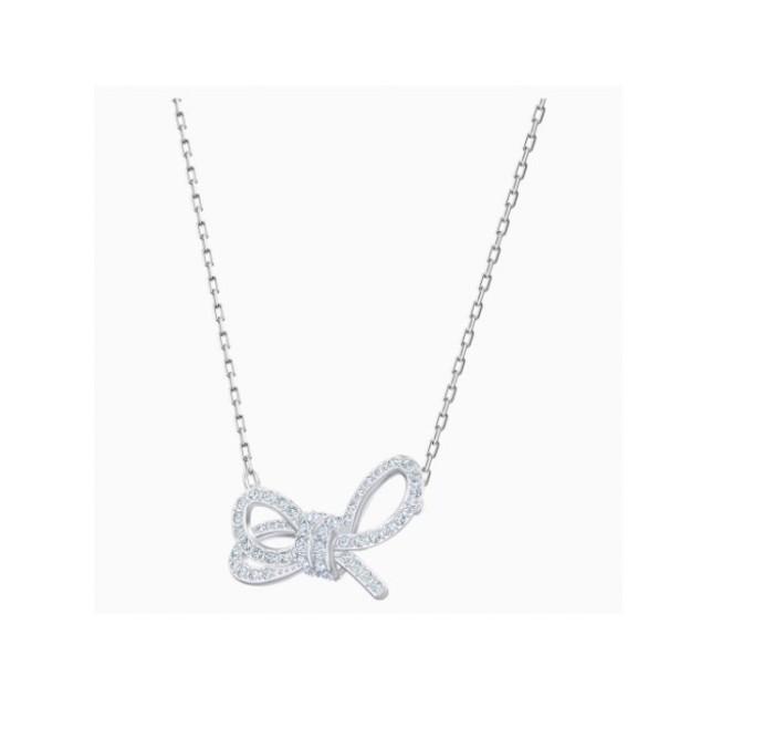 Collar Swarovski LIFELONG BOW PLATA 5440643