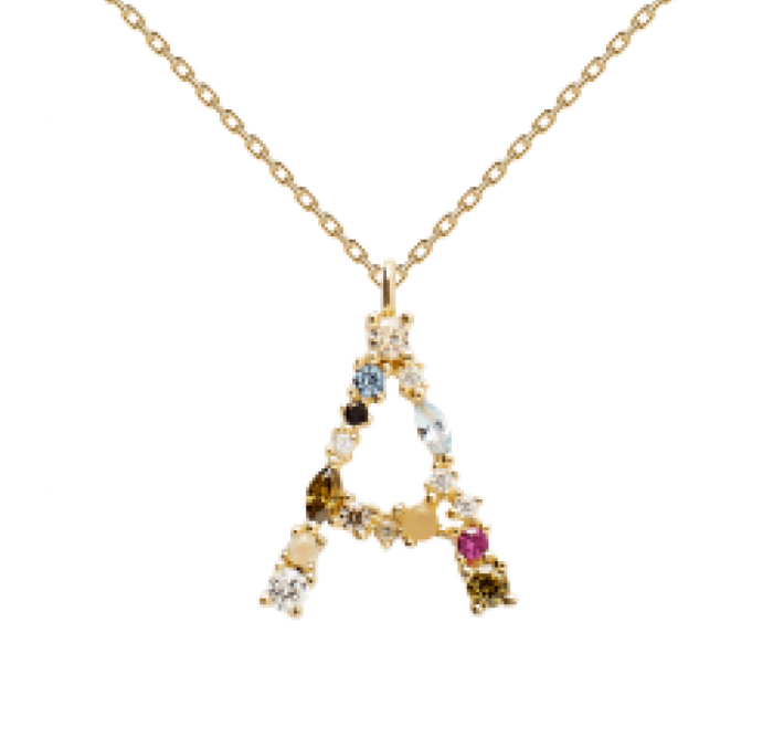 Collar PD PAOLA CO01-096-U LETRA A GOLD